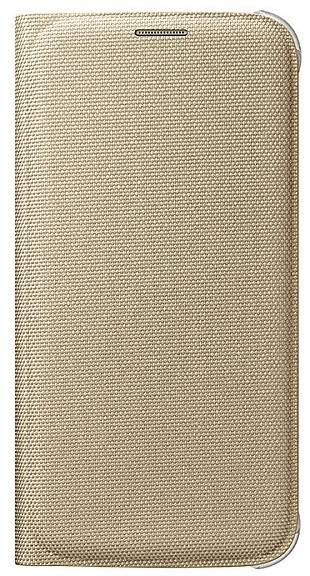 Чехол для смартфона Samsung Flip Wallet (Textil)  Samsung Galaxy S6 золотистый - фото 1