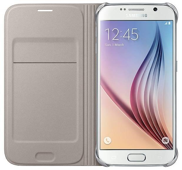 Чехол для смартфона Samsung Flip Wallet (Textil)  Samsung Galaxy S6 золотистый - фото 3