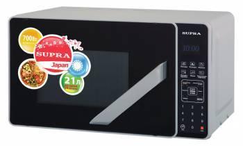 СВЧ-печь Supra MWS-2106SS серебристый / черный