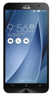 Смартфон Asus ZE551ML Zenfone 2 серебристый, встроенная память 32Gb, дисплей 5.5 1920x1080, Android 5.0, камера 13Mpix, поддержка 3G, 4G, 2Sim, WiFi, BT, GPS, microSDXC до 64Gb (90AZ00A5-M01510)