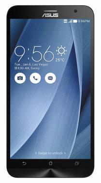 Смартфон Asus ZE551ML Zenfone 2 серебристый, встроенная память 16Gb, дисплей 5.5 1920x1080, Android 5.0, камера 13Mpix, поддержка 3G, 4G, 2Sim, WiFi, BT, GPS, microSDXC до 64Gb (90AZ00A5-M01770)