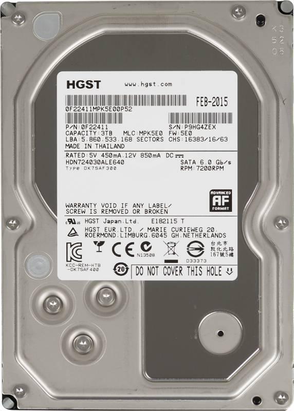 Жесткий диск 3Tb HGST NAS H3IKNAS30003272SE SATA-III - фото 1