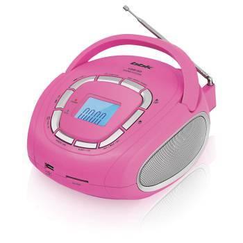 Магнитола BBK BS05 розовый / серебристый