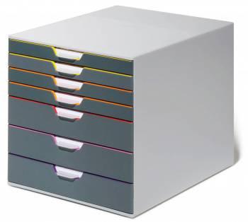 Бокс для документов Durable 7607-27 Varicolor ассорти/серый