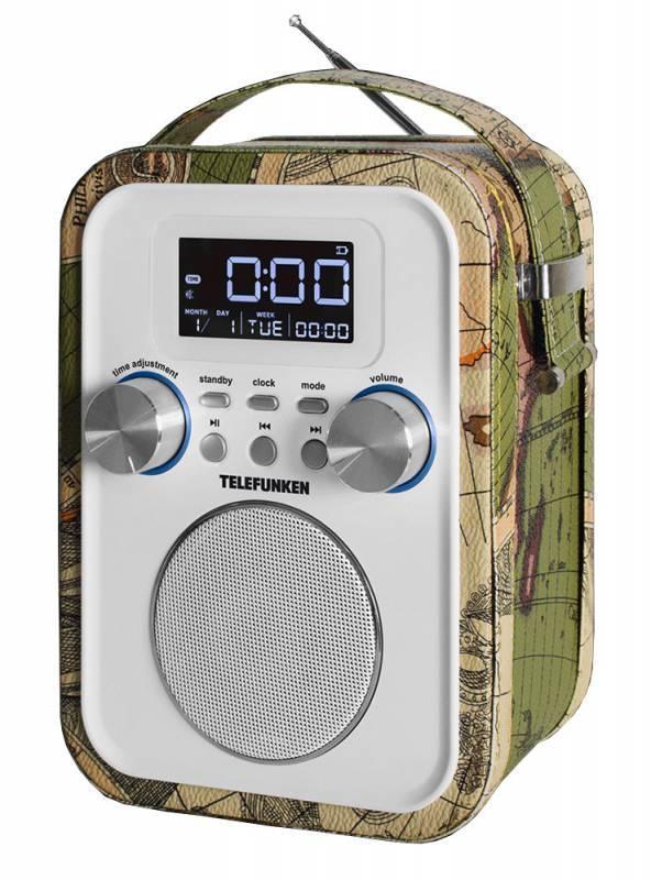 Радиоприемник Telefunken TF-1635U зеленый - фото 1