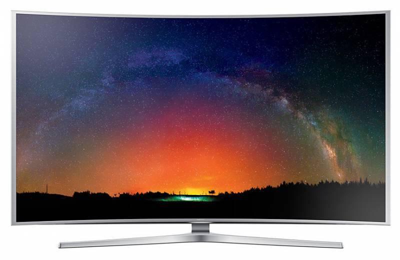 "Телевизор LED 65"" Samsung UE65JS9000TX серебристый - фото 1"