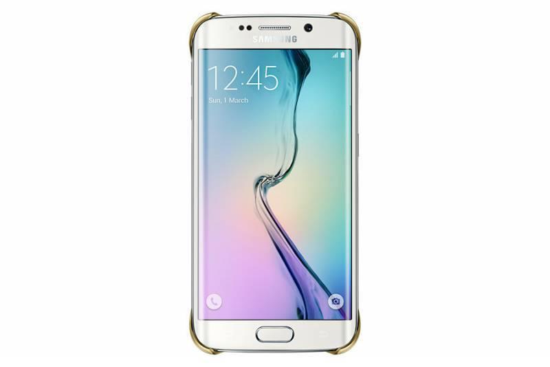 Чехол для смартфона Samsung Clear Cover  Samsung Galaxy S6 Edge золотистый - фото 2