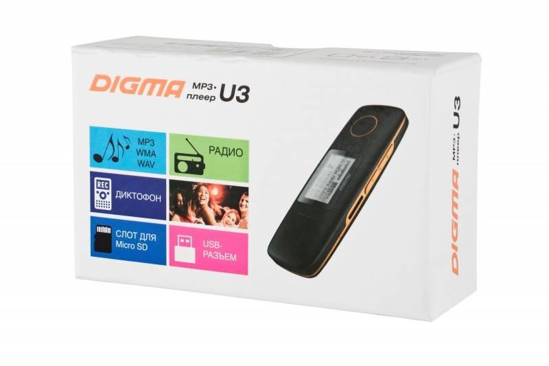 Плеер Digma U3 4ГБ черный/оранжевый - фото 7