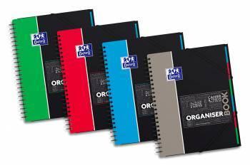 Тетрадь Oxford SOS NOTES ORGANISERBOOK А4+ 80 листов линейка двойная спираль обложка полипропилен(400037404)
