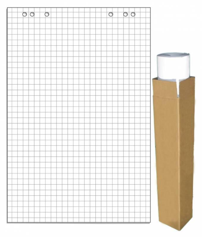 Блок бумаги 275159 для флипчартов 67.5х98см клетка 20л (упак.:5шт) - фото 1