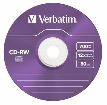Диск CD-RW Verbatim 700Mb 12x (5шт) (43167)