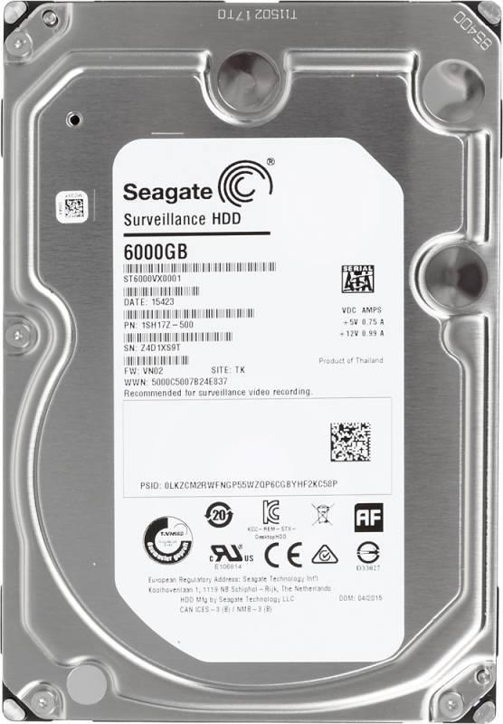 Жесткий диск 6Tb Seagate Surveillance ST6000VX0001 SATA-III - фото 1