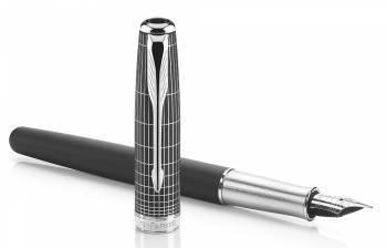 Ручка перьевая Parker Sonnet F536 Contort Black Cisele (1930256)