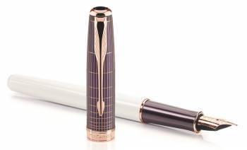 Ручка перьевая Parker Sonnet F536 Contort Purple Cisele (1930055)