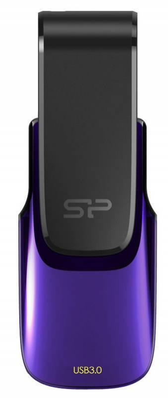 Флешка Silicon Power Blaze B31 8ГБ USB3.0 фиолетовый/черный (SP008GBUF3B31V1U) - фото 1