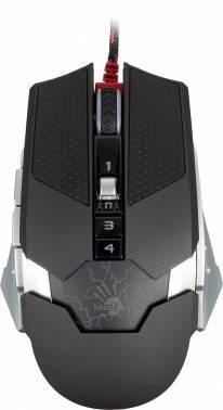 Мышь A4 Bloody T50 Winner черный/серый, оптическая, разрешение сенсора 4000dpi, игровая, проводная, длина провода 1.8м, кнопок: 9, подходит для правой руки