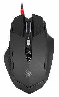 Мышь A4 Bloody T70 Winner черный/серый, оптическая, разрешение сенсора 4000dpi, игровая, проводная, длина провода 1.8м, кнопок: 9, подходит для правой руки