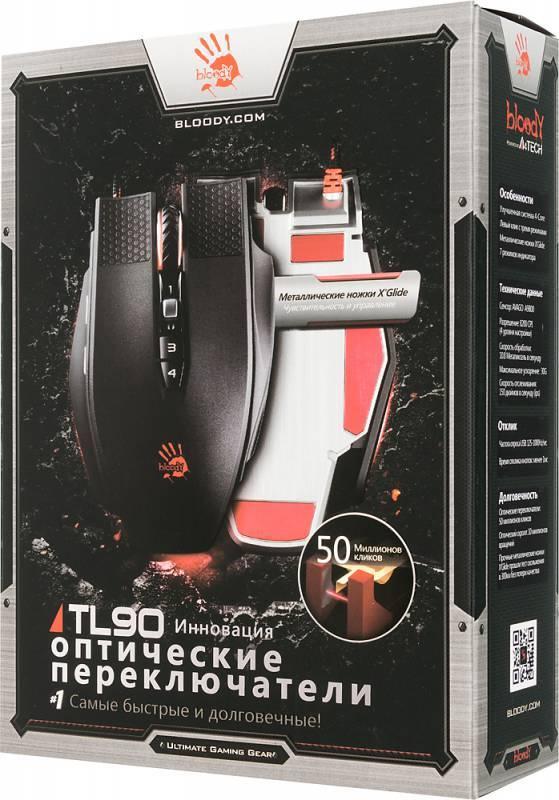 Мышь A4 Bloody TL90 Terminator черный/серый - фото 5