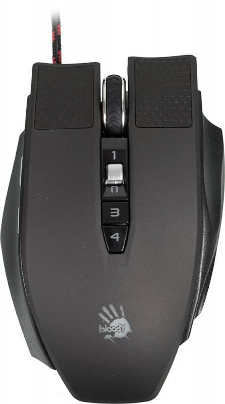 Мышь A4 Bloody TL90 Terminator черный/серый - фото 1