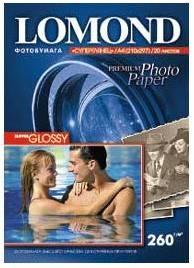 Фотобумага Lomond 1103101 A4 260г/м2 20л. белый