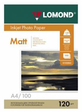 Фотобумага Lomond 0102003 A4 120г/м2 100л. белый
