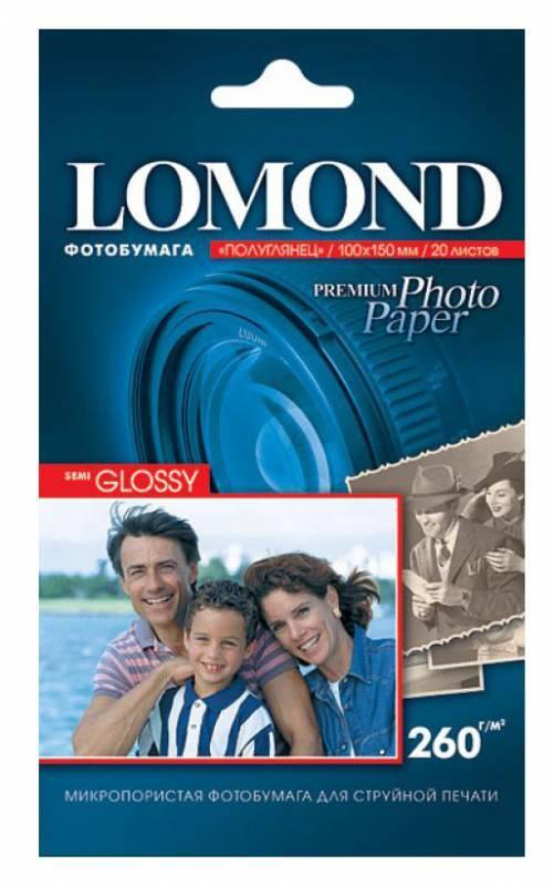 Фотобумага Lomond (1103302) 10x15/260г/м2/20л. белый - фото 1
