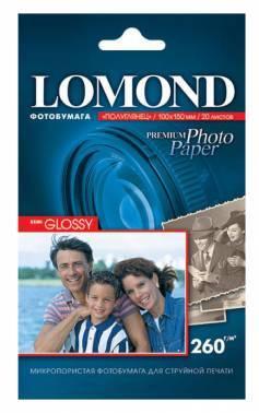 Фотобумага Lomond 1103302 10x15 260г/м2 20л. белый