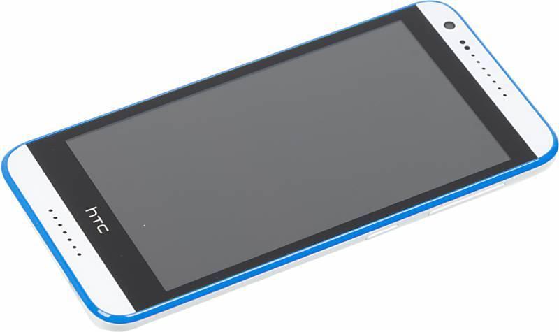 Смартфон HTC Desire 620G белый/синий - фото 3