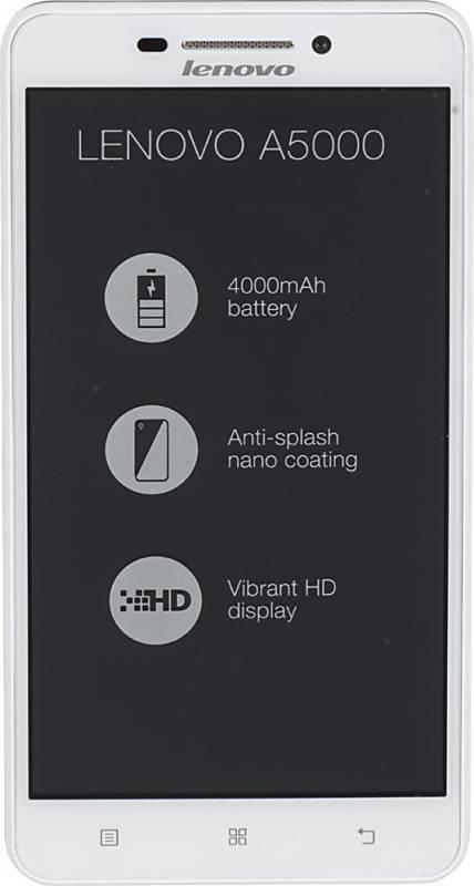 Смартфон Lenovo A5000 8ГБ белый - фото 1