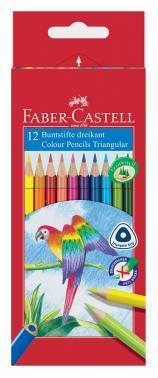 Карандаши Faber-Castell 116512 цветные D75 трехгранные в картонной коробке 12 цветов