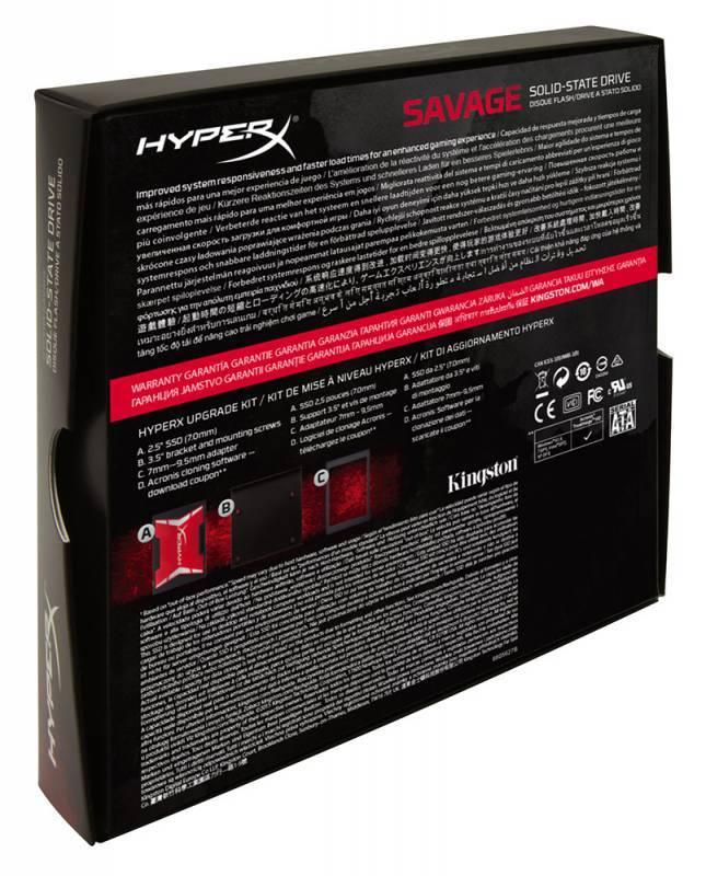 Накопитель SSD 240Gb Kingston HyperX Savage SHSS37A/240G SATA III - фото 4