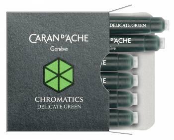 Картридж Carandache Chromatics Delicate green чернила (6шт) (8021.221)