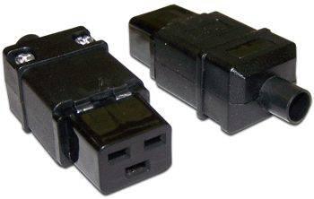 Вилка Lanmaster LAN-IEC-320-C19 IEC 60320 C19 16A 250V black - фото 1