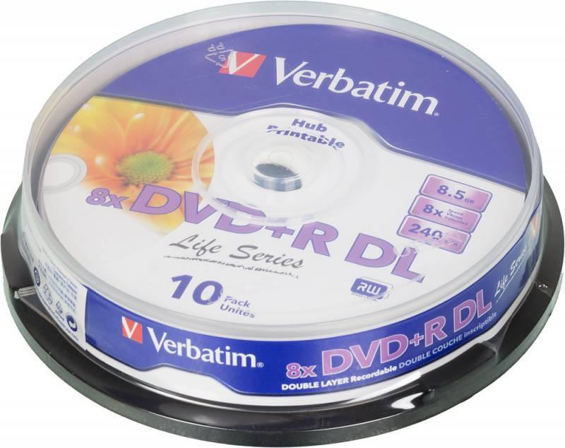 Диск DVD+R Verbatim 8.5Gb 8x (10шт) (43818) - фото 1