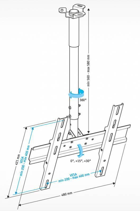 Кронштейн для телевизора Holder PR-101-W белый - фото 2