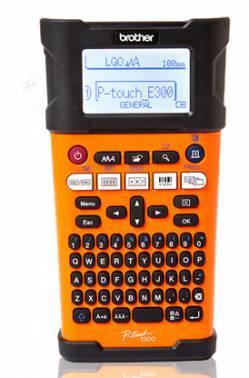 Принтер для печати наклеек Brother P-touch PT-E300VP оранжевый/черный (PTE300VPR1)
