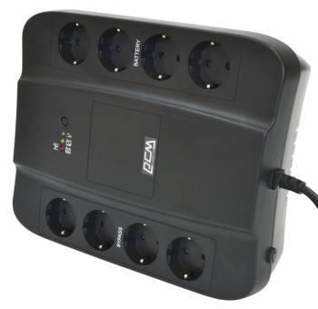 Источник бесперебойного питания Powercom Spider SPD-650E back черный, мощность 650ВА, 390Вт, розеток EURO 4шт