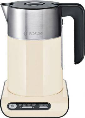 Чайник электрический Bosch TWK8617P бежевый/серебристый