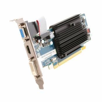 Видеокарта Sapphire 11190-09-10G, процессор AMD Radeon HD 6450 625 МГц, объем видеопамяти 2048 Мб 64 бит DDR3 1334 МГц, интерфейс PCI-E, разъёмы DVIx1/HDMIx1/CRTx1, low profile, oem
