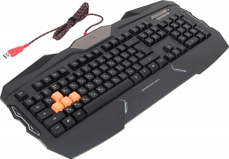 Клавиатура A4 Bloody B254 черный (B254) - фото 3