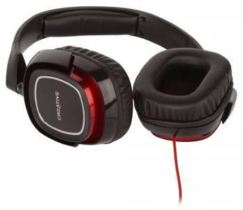 Наушники с микрофоном Creative HS 880 Draco черный / красный