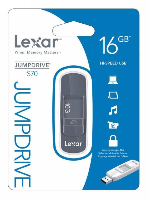 Флеш диск Lexar JumpDrive S70 16ГБ USB2.0 серый - фото 2