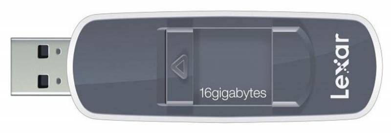 Флеш диск Lexar JumpDrive S70 16ГБ USB2.0 серый - фото 1