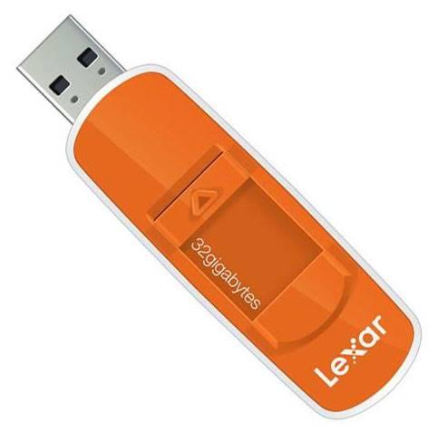 Флеш диск Lexar JumpDrive S70 32ГБ USB2.0 оранжевый - фото 2
