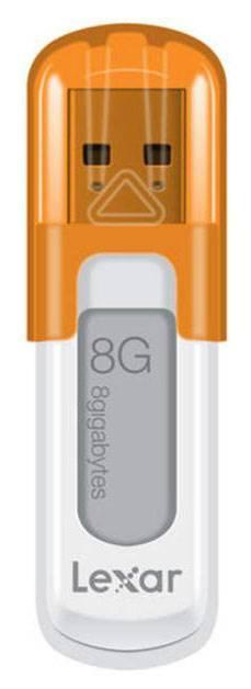 Флеш диск Lexar JumpDrive V10 8ГБ USB2.0 оранжевый/белый - фото 1