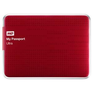Внешний жесткий диск 1Tb WD WDBDDE0010BBY-EEUE My Passport Ultra красный USB 3.0