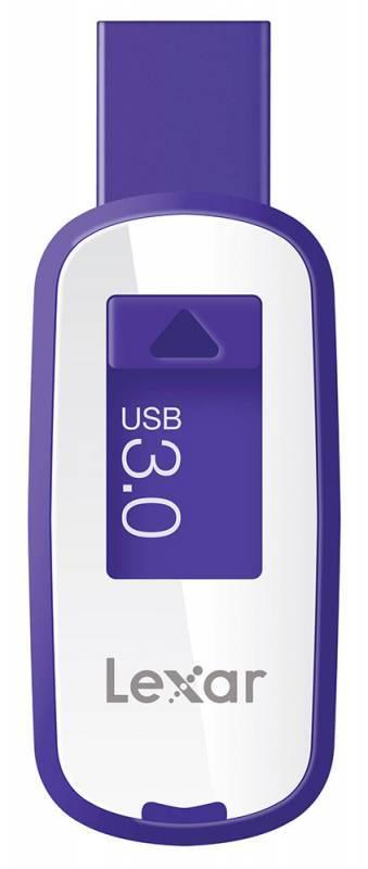 Флеш диск Lexar JumpDrive S25 64ГБ USB3.0 белый/фиолетовый - фото 1