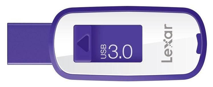 Флеш диск Lexar JumpDrive S25 64ГБ USB3.0 белый/фиолетовый - фото 2