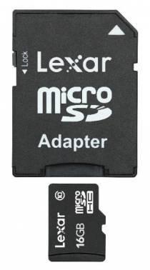 Карта памяти microSDHC 16Gb Class10 Lexar LSDMI16GBB1EU300A