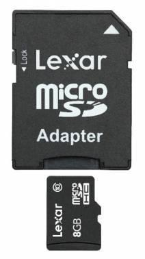 Карта памяти microSDHC 8Gb Class10 Lexar LSDMI8GBBBEU300A